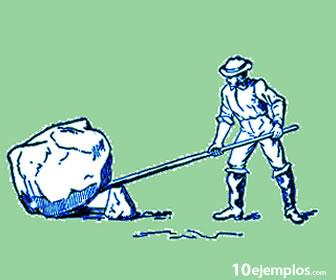 La palanca permite mover objetos pesados