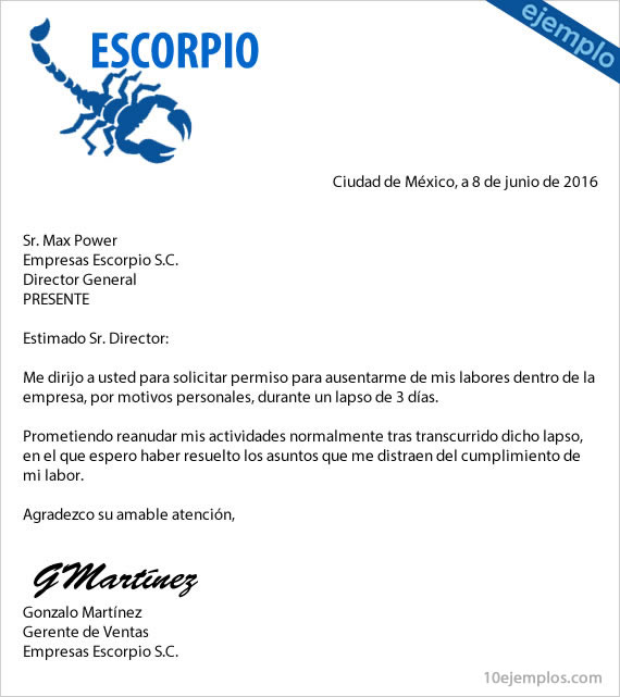 Ejemplos de carta formal for Cuarto mas empresa