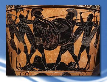 Escena de una tragedia griega, La Ilieada