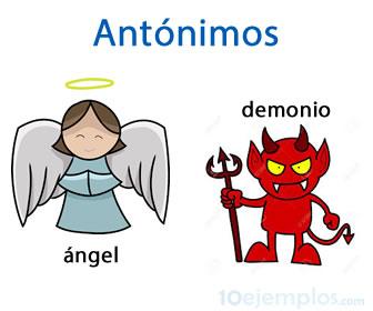 Antónimos, ángel, demonio