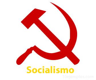 Logo del socialismo, la hoz y el martillo