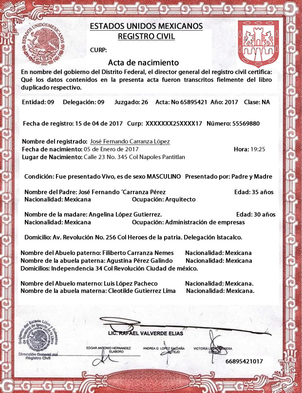 Ejemplos de Documento Legal
