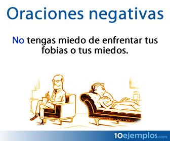 Las oraciones negativas usan adverbios de negación.