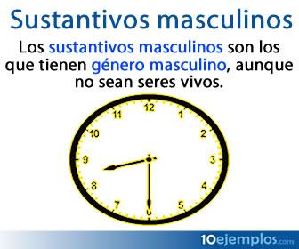 Lo sustantivos masculinos son los que tienen género masculino aunque no sean seres vivos.