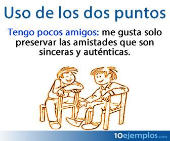 Los dos puntos tienen siete usos principales dentro del español