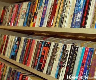 """La novela es un género literario """"universal"""". Libros en estante."""