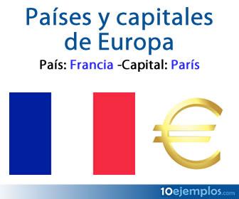 Los países y capitales de Europa tienen diferentes culturas.