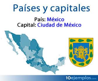 Son los países y sus capitales.