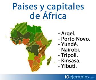 Éstas son las principales ciudades de los países africanos y capitales políticas.