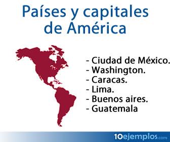 Las capitales son las principales ciudades de los países de América.