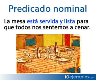 Se le conoce como predicado nominal a un tipo de predicado que se forma por un verbo copulativo y un atributo.