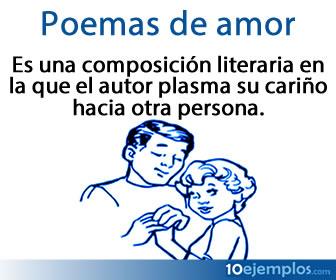 Los poemas de amor son composiciones literarias para expresar afecto.
