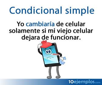 El condicional simple, también llamado pospretérito, es un tiempo simple en español, en el cual el verbo tiene la función en general de expresa una acción, un estado o un proceso que no ha ocurrido, sino que es algo hipotético.