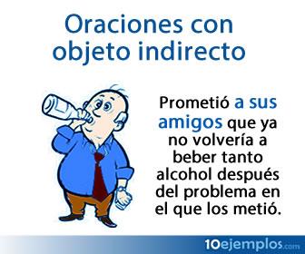 El objeto indirecto es un tipo de complemento verbal que indica qué o quién es el destinatario, receptor o beneficiario de la acción expresada por el verbo del predicado.