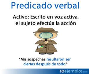 Predicado verbal activo, el sujeto efectúa la acción