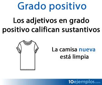 Grado positivo en adjetivos